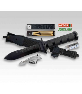 Aitor JUNGLE KING II BLACK Rescue Knife -