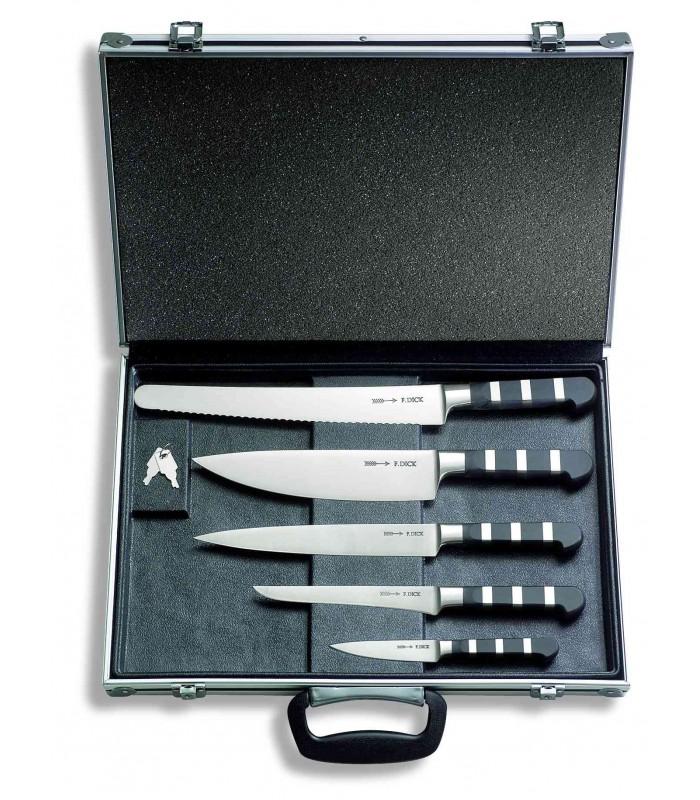 Malette couteau de Chef Forgés série 1905 5 pcs Dick 8116800 -