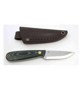 Enzo 9804 Necker 70 Green Micarta Etui cuir -