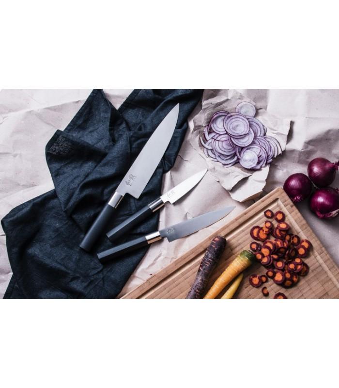 Kai 67S300P Wasabi Black Coffret 3 Couteaux : Office , universel et chef -