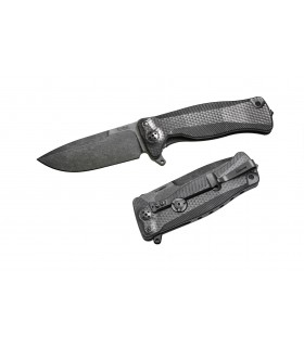 Liionsteel SR11 BB Titanium Noir et lame Stone washed -