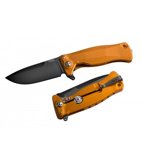 Liionsteel SR11A OB Aluminium Orange et lame Noir -